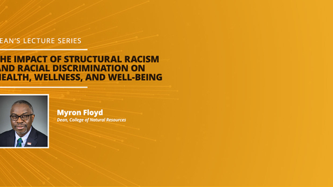 Thumbnail for entry Dean's Lecture Series: Nature Matters for Black Lives: Disrupting Narratives about Race and Place