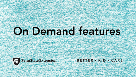 Thumbnail for entry BKC On Demand features
