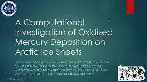 Thumbnail for entry A Computational Investigation of Oxidized Mercury Deposition on Arctic Ice Sheets