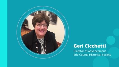 Thumbnail for entry Geri Cicchetti:  Non-Profit Marketing
