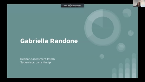 Thumbnail for entry Gabriella Randone -- Student Employee Showcase 2021