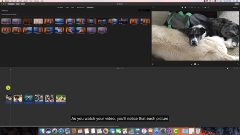 Thumbnail for entry Adding Transitions to an iMovie Project