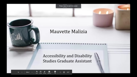 Thumbnail for entry Mauvette Malizia - Student Employee Showcase Presentation