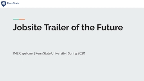 Thumbnail for entry Jobsite Trailer of the Future_Barton Malow