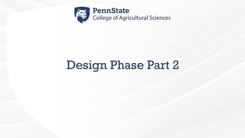 Thumbnail for entry Design Phase 2
