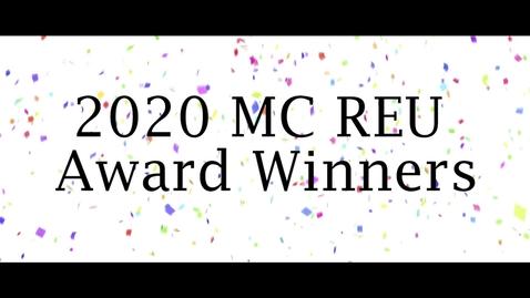 Thumbnail for entry MC REU 2020 award winners