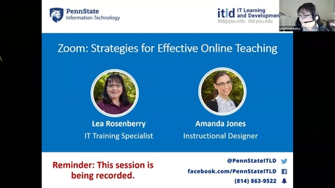 Thumbnail for entry Zoom: Strategies for Effective Online Teaching