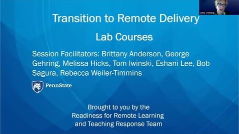 Thumbnail for entry Strategies For Supporting Remote Labs