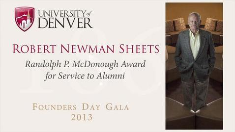 Thumbnail for entry 2013 Founders Day, Robert Newman Sheets