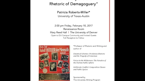 Thumbnail for entry Democracy and the Rhetoric of Demagoguery