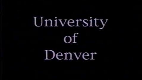 Thumbnail for entry DU Commencement August 1994