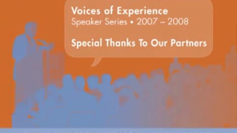 Thumbnail for entry Voices of Experience: Jim Unruh