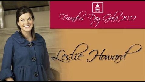 Thumbnail for entry 2012 Founders Day, Leslie Howard