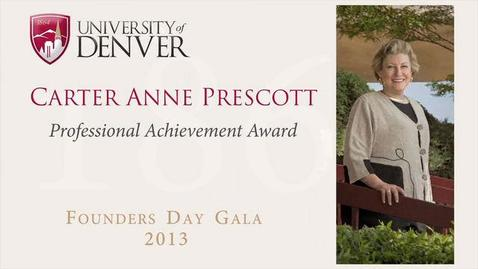 Thumbnail for entry 2013 Founders Day, Carter Anne Prescott