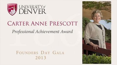 Thumbnail for entry 2013 Founders Day, Carter Anne Prescott