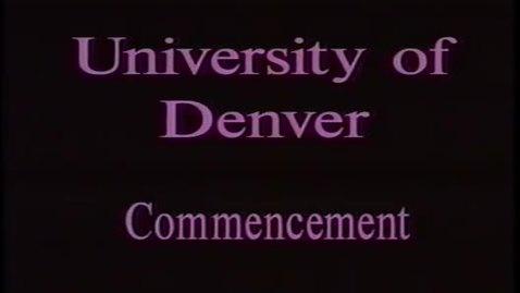 Thumbnail for entry DU Commencement June 1993