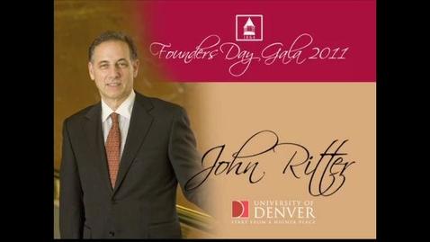 Thumbnail for entry 2011 Founders Day, John Ritter
