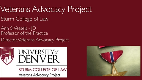 Thumbnail for entry Veterans Advocacy Project