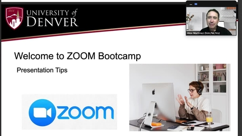 Thumbnail for entry ZOOM Bootcamp Series: Presentation Tip