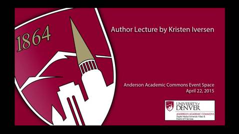 Thumbnail for entry Author Lecture - Kristen Iversen: Full Body Burden: Growing Up in the Nuclear Shadow of Rocky Flats