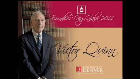 Thumbnail for entry 2011 Founders Day, Victor Quinn