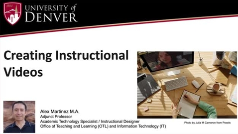 Thumbnail for entry Creating Instructional Videos (picture-in-picture)