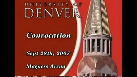 Thumbnail for entry 2007 Convocation Address with Chancellor Coombe