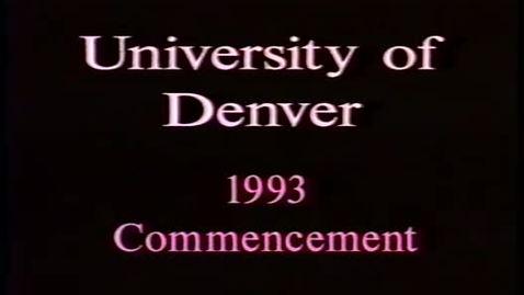 Thumbnail for entry DU Commencement August 1993