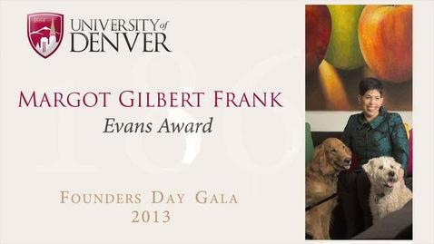 Thumbnail for entry 2013 Founders Day, Margot Gilbert Frank