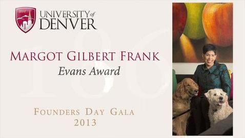 Thumbnail for entry 2013 Founders Day, Margot Gilbert Frank