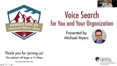 Thumbnail for entry Accelerate Webinar Series: Voice Search for You and Your Organization