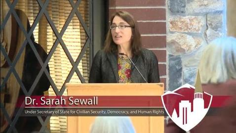 Thumbnail for entry Denver Dialogues on Peace & Security - Featuring Sarah Sewall