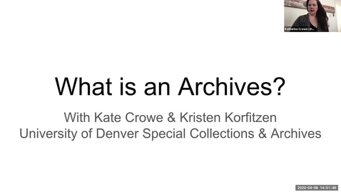 Thumbnail for entry What Is An Archives