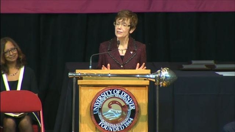 Thumbnail for entry 2014 Convocation with Chancellor Rebecca Chopp