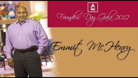 Thumbnail for entry 2012 Founders Day, Emmit McHenry