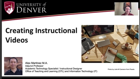 Thumbnail for entry Creating Instructional Videos - Design and Tech Tips