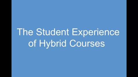Thumbnail for entry 5. The Student Experience