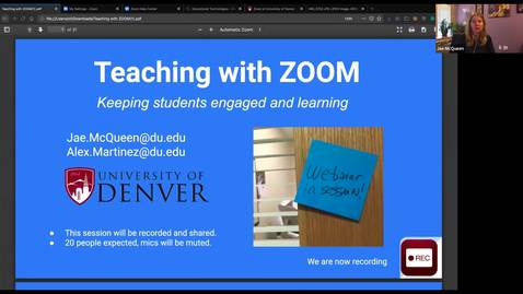 Thumbnail for entry Teaching With Zoom with Jae McQueen and Alex Martinez - recorded webinar
