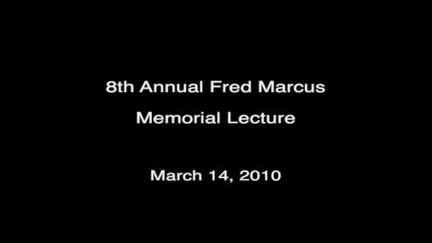 Thumbnail for entry 8th Annual Fred Marcus Memorial Holocaust Lecture by Ann Weiss, 2010-03-14