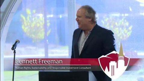 Thumbnail for entry Practitioner Talk by Bennett Freeman