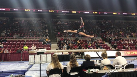 Thumbnail for entry 2019 DU Gymnastics at Iowa State - Kaitlyn Schou - Beam (9.925)