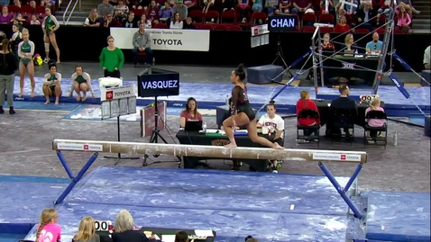 Thumbnail for entry Alexis Vasquez - Beam (9.950) - 2020 DU Gymnastics vs. Washington, San Jose State & Alaska