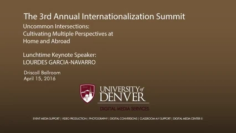 Thumbnail for entry Internationalization Summit Lunch Keynote with Lourdes Garcia-Navarro