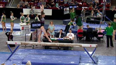 Thumbnail for entry Emma Brown - Beam (9.800) - 2020 DU Gymnastics vs. Washington, San Jose State & Alaska