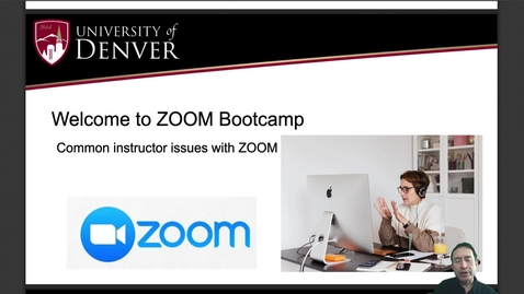 Thumbnail for entry ZOOM Bootcamp Series: Canvas Integration and Common Technical Tips