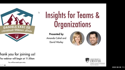 Thumbnail for entry Accelerate Webinar Series: Insights for Teams & Organizations