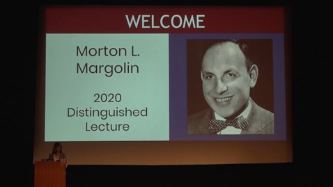 Thumbnail for entry Evan Smith: Margolin Lecture 2020