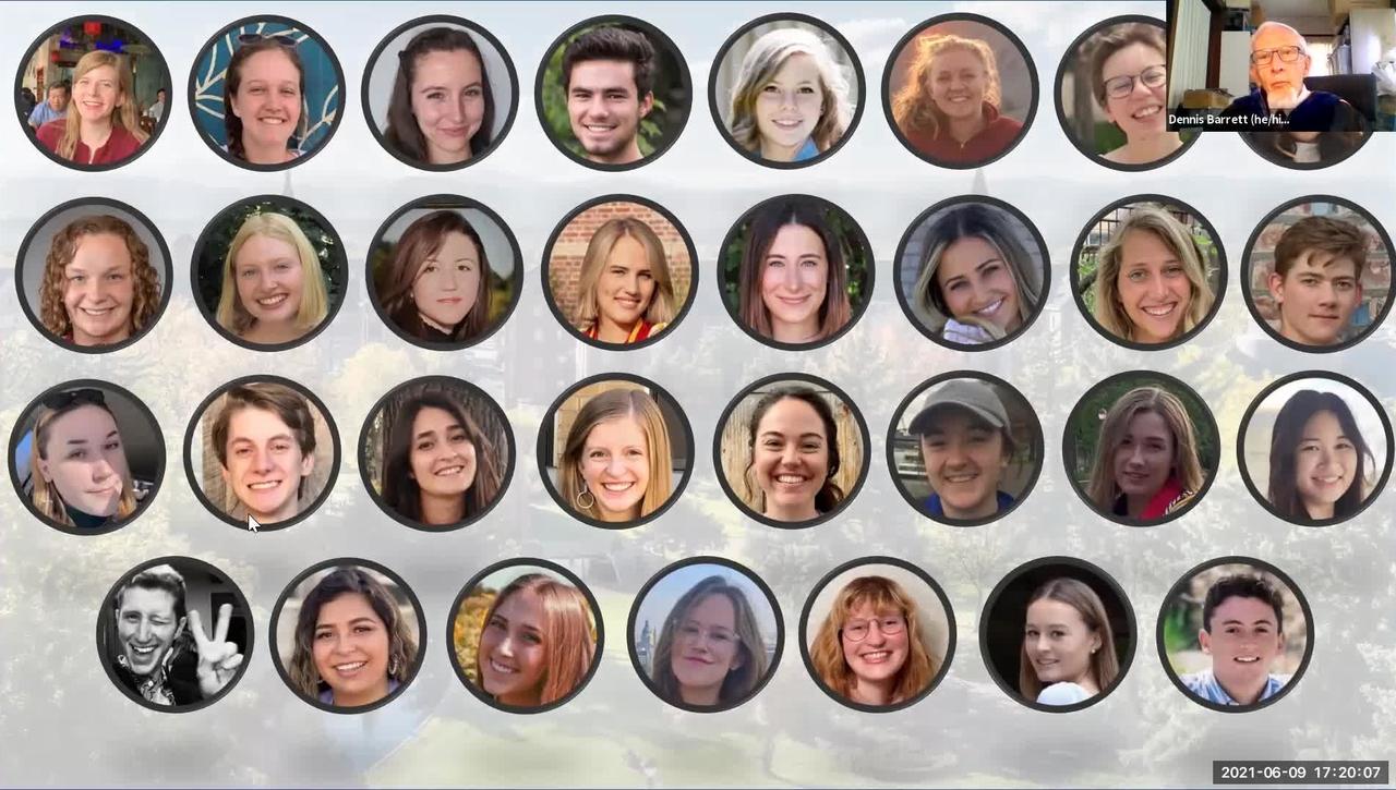 DU Phi Beta Kappa 2021 new member initiation and graduate celebration