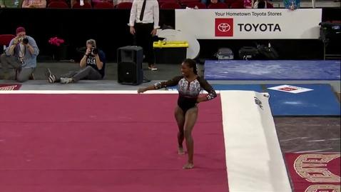 Thumbnail for entry Amoree Lockhart - Floor (9.875) - 2020 DU Gymnastics vs. Washington, San Jose State & Alaska