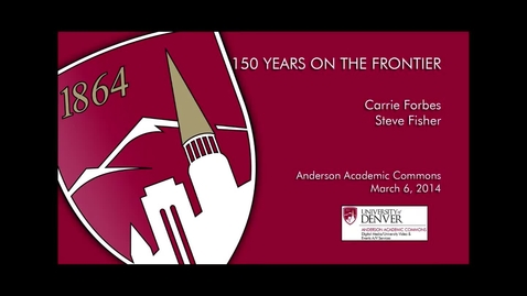 Thumbnail for entry 150 Years On The Frontier